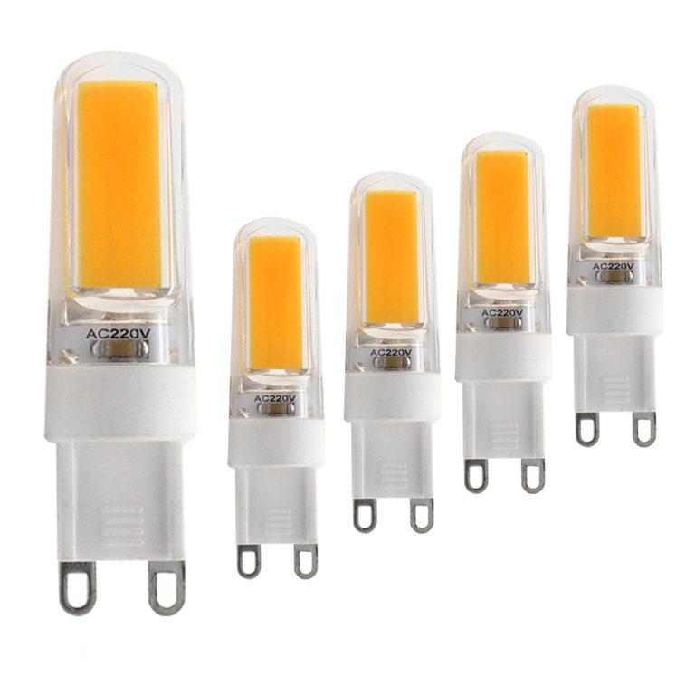 G9 Dimmable LED Bulb GXZ 5W (40W Halogen Equivalent) 380LM Soft White (3000K) G9 Ceramic Base G9 Bulbs