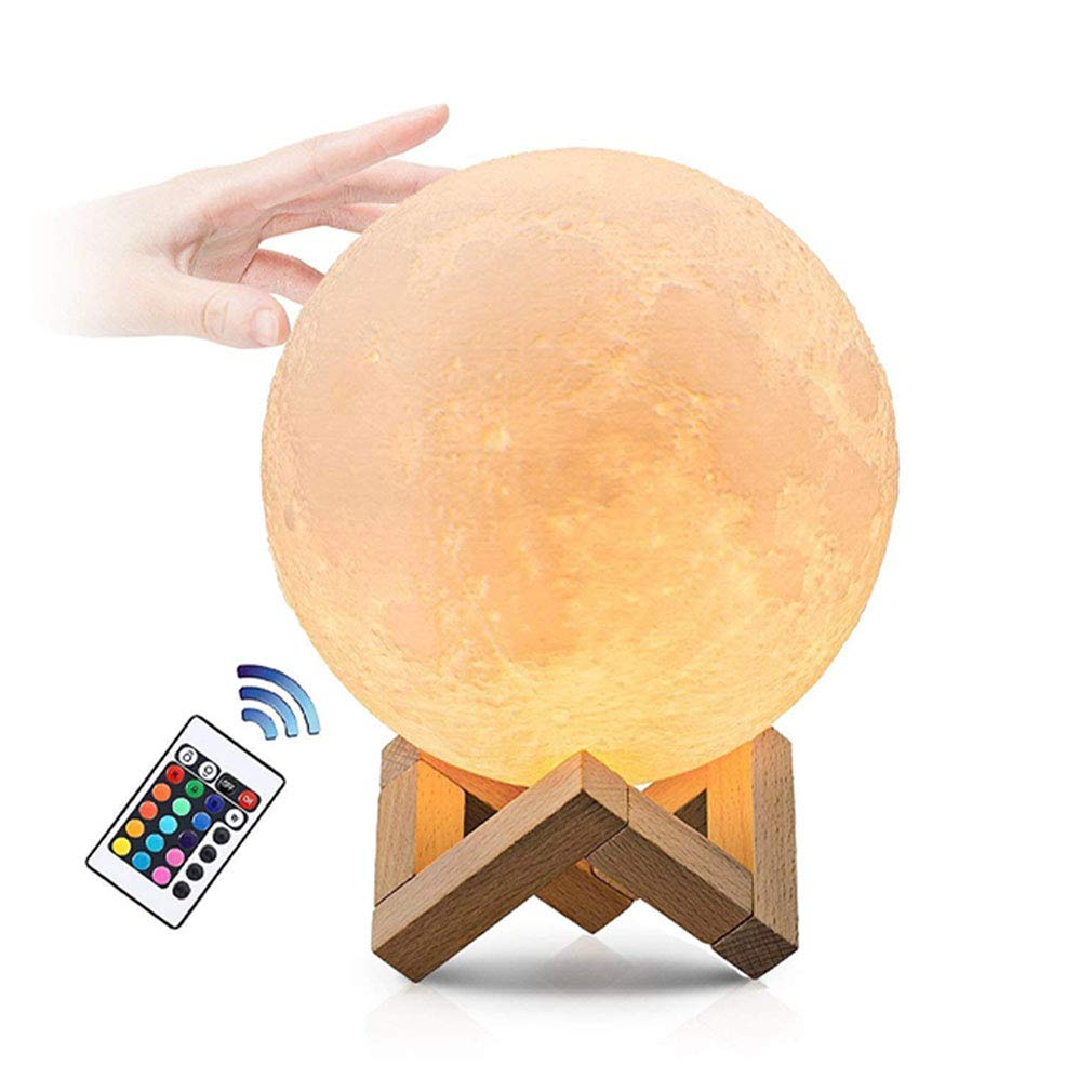 Moon Lamp 3D Moon Light with Dock, 16 Colors Remote Control Adjustment
