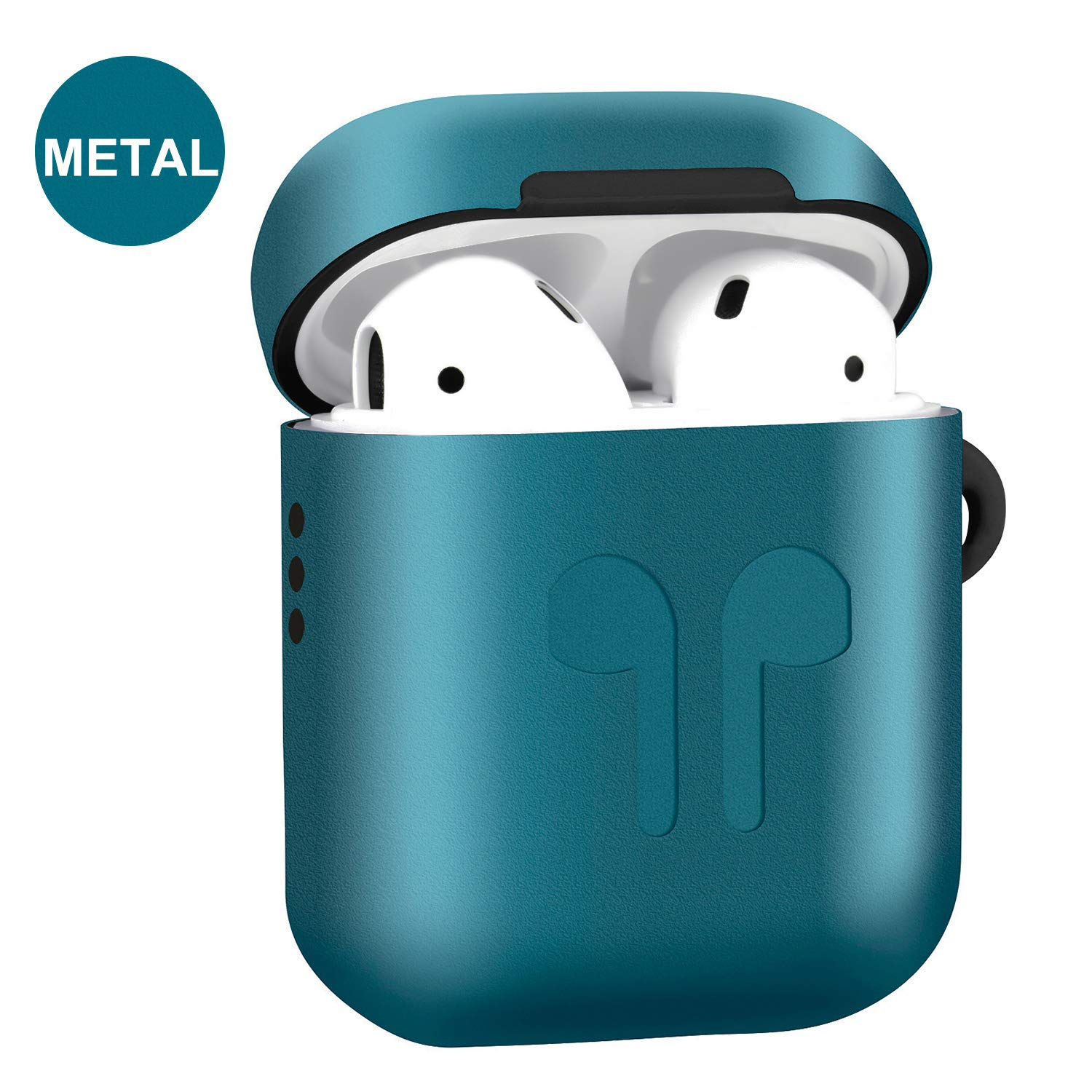 Metal Airpods Case Full Protective Skin Cover Compatible with Apple Airpods 2&1 Charging case