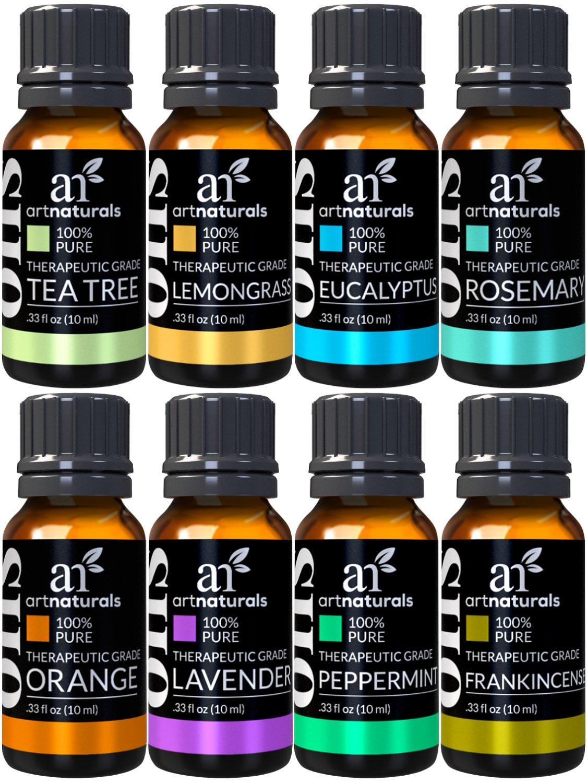 ArtNaturals Therapeutic-Grade Aromatherapy Essential Oil Set – (8 x 10ml)