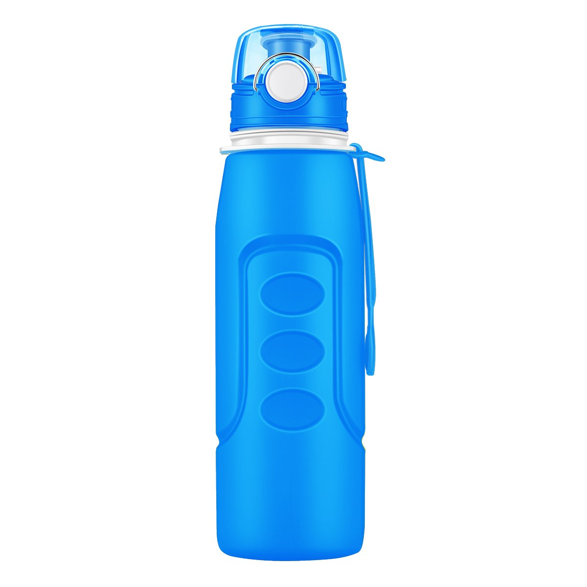 Sports Water Bottle-Rottay 1000ML/1Liter(32oz)-Collapsible &Eco Friendly & BPA-Free& Leak-Proof Foldable Silicone Water Bottle/Drink Bottle Orange
