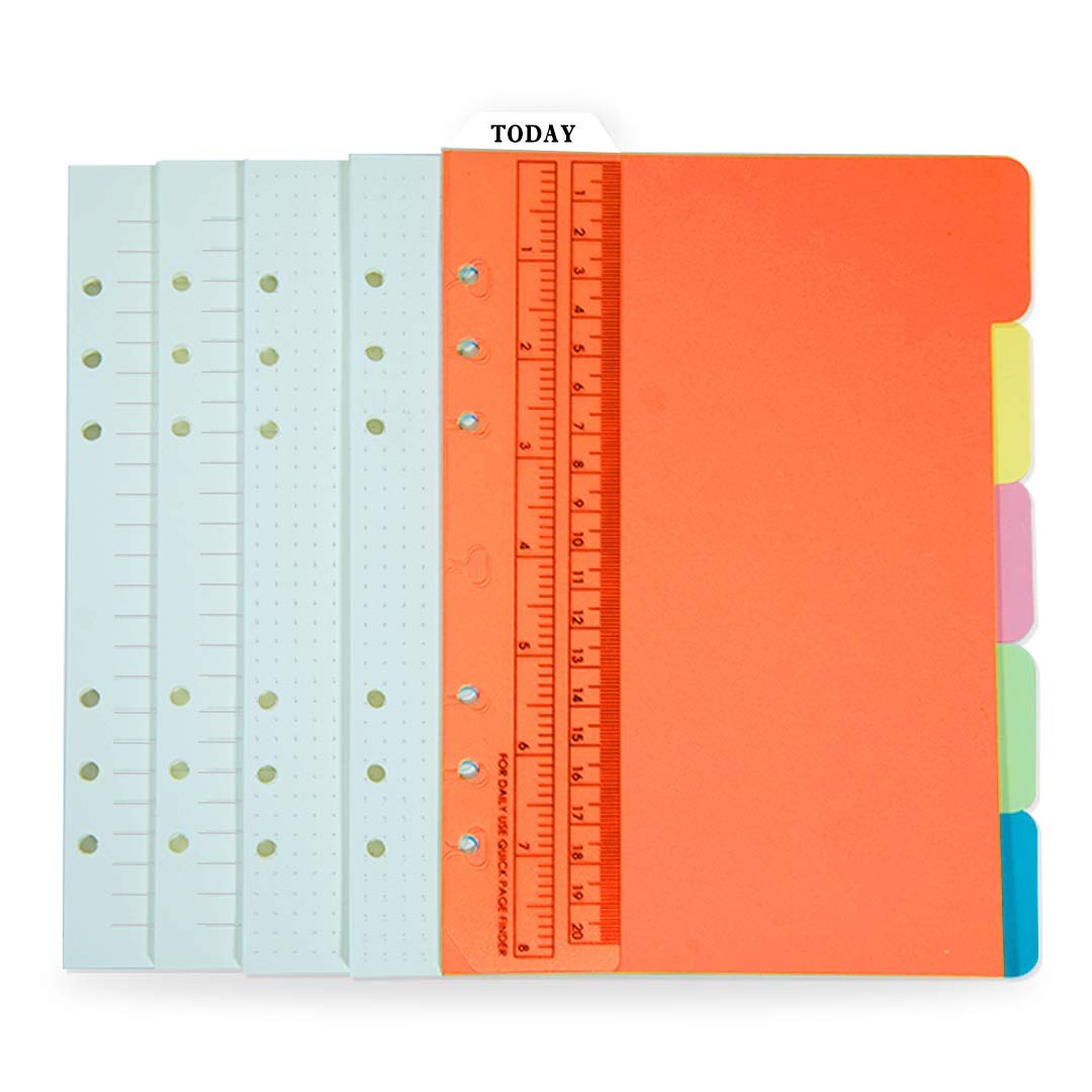 A5 Standard 6-Hole binder Refill Paper Set(Please use this voucher and coupon on product detailed page together)