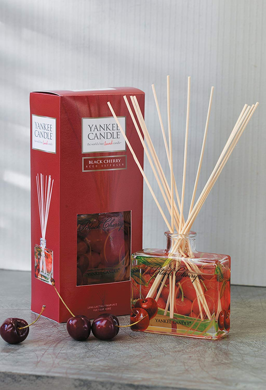 Yankee Candle Signature Reed Diffuser, Black Cherry,88 ml