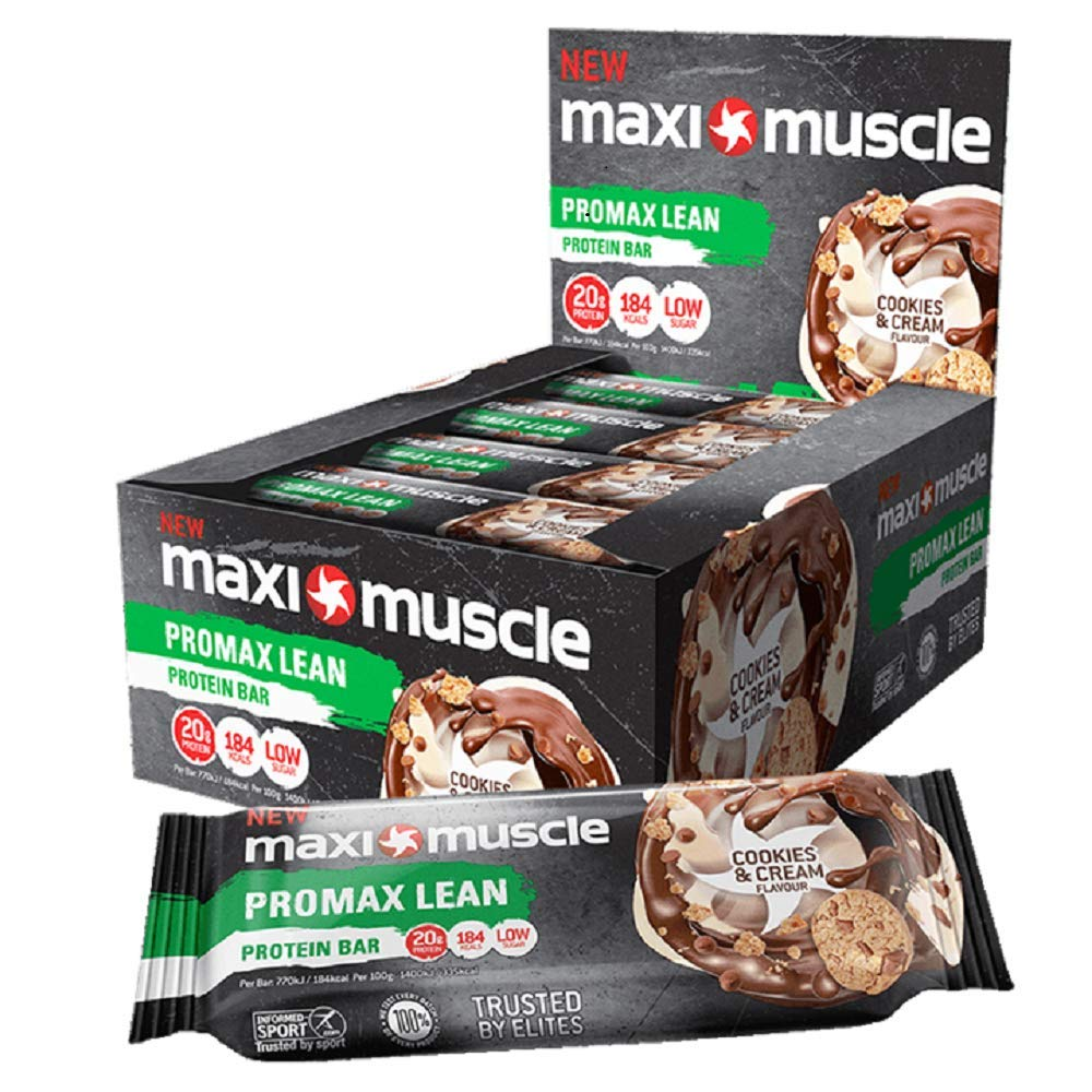 Lean High Protein Bar, Cookies and Cream, 55 g, Pack of 12