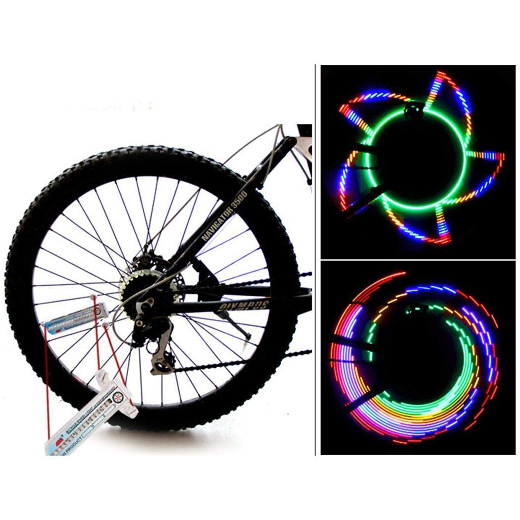 mekolen 16 LED Bike Bicycle Tire Wheel Flashing Light Outdoor Cycling Colour Changing Waterproof