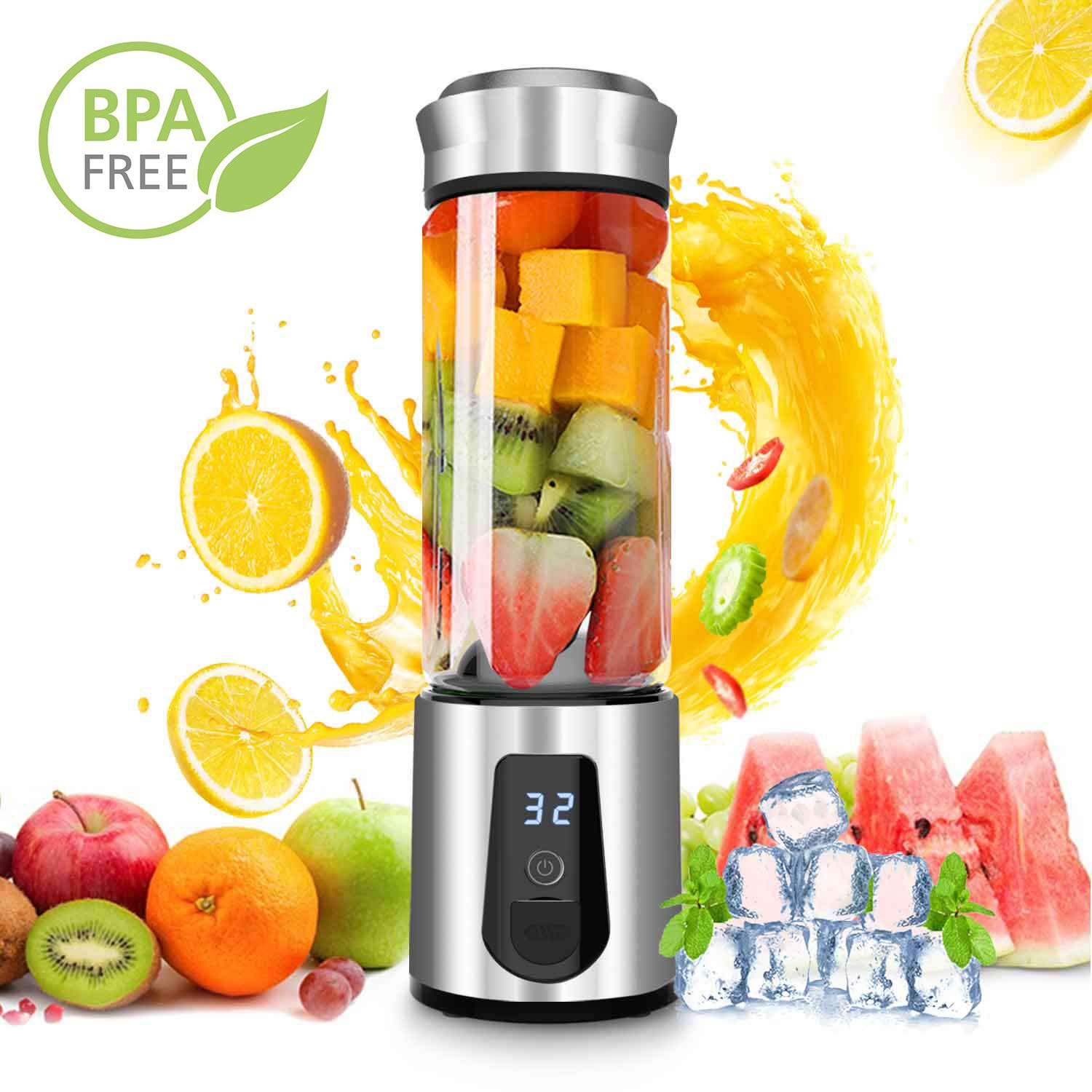 Blender Smoothie Maker,DOUHE USB Rechargeable Juicer Portable Blender