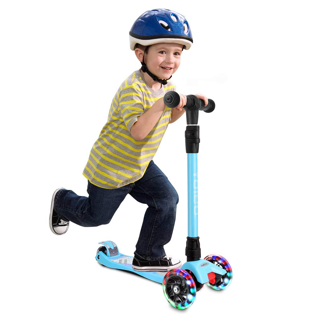 TONBUX Kids Kick Scooter 3 Adjustable Height Scooters