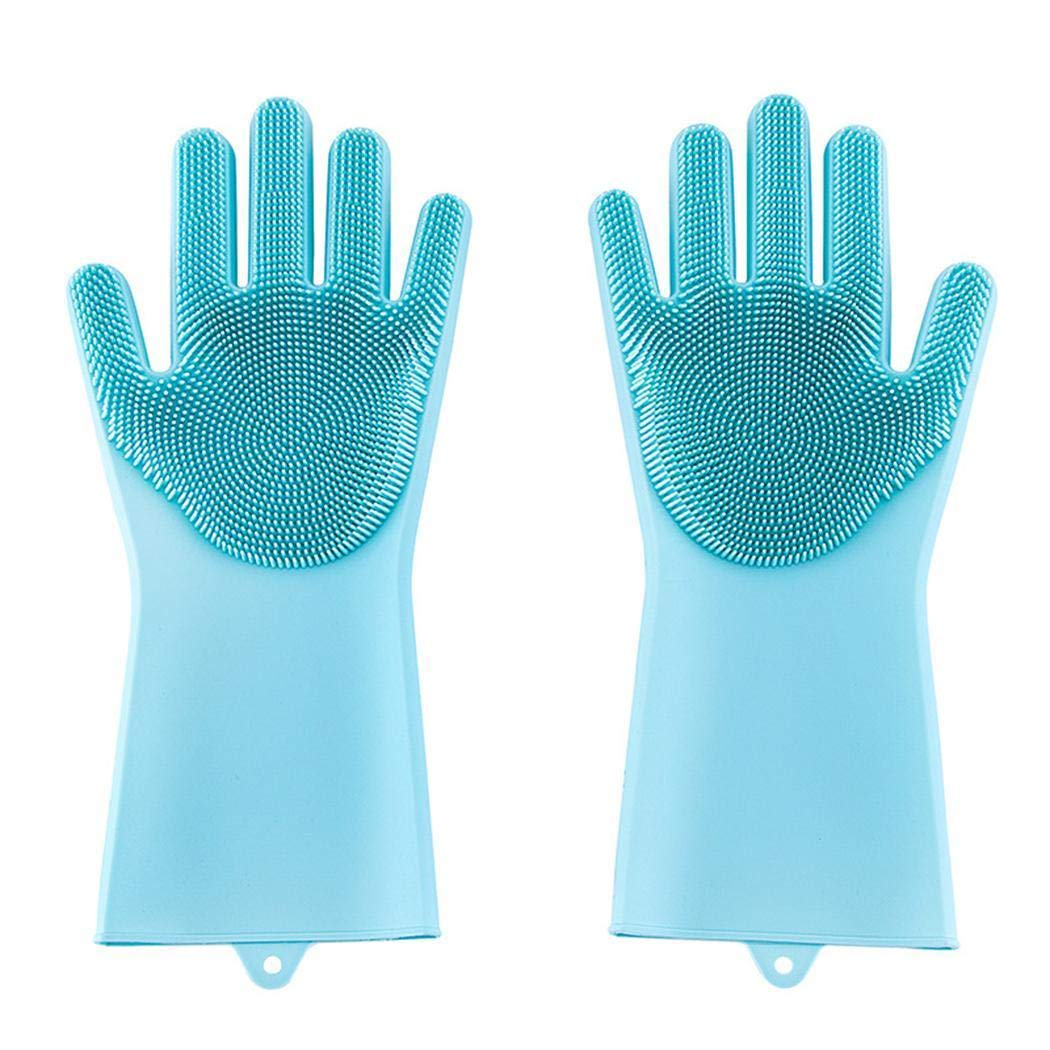 kaimus Home Household Kitchen Silicone Cleaning Dishwashing Gloves Cleaning Cloths