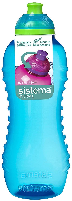 Sistema Twist 'n' Sip BPA Free Water Bottle, 460 ml