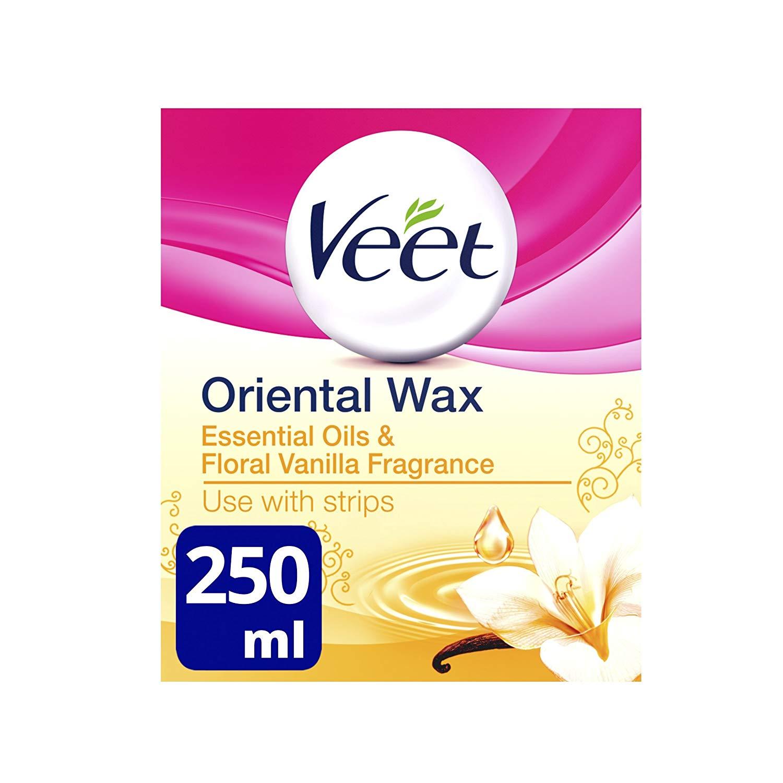 Veet Essential Oils and Floral Vanilla Warm Wax Microwavable Jar