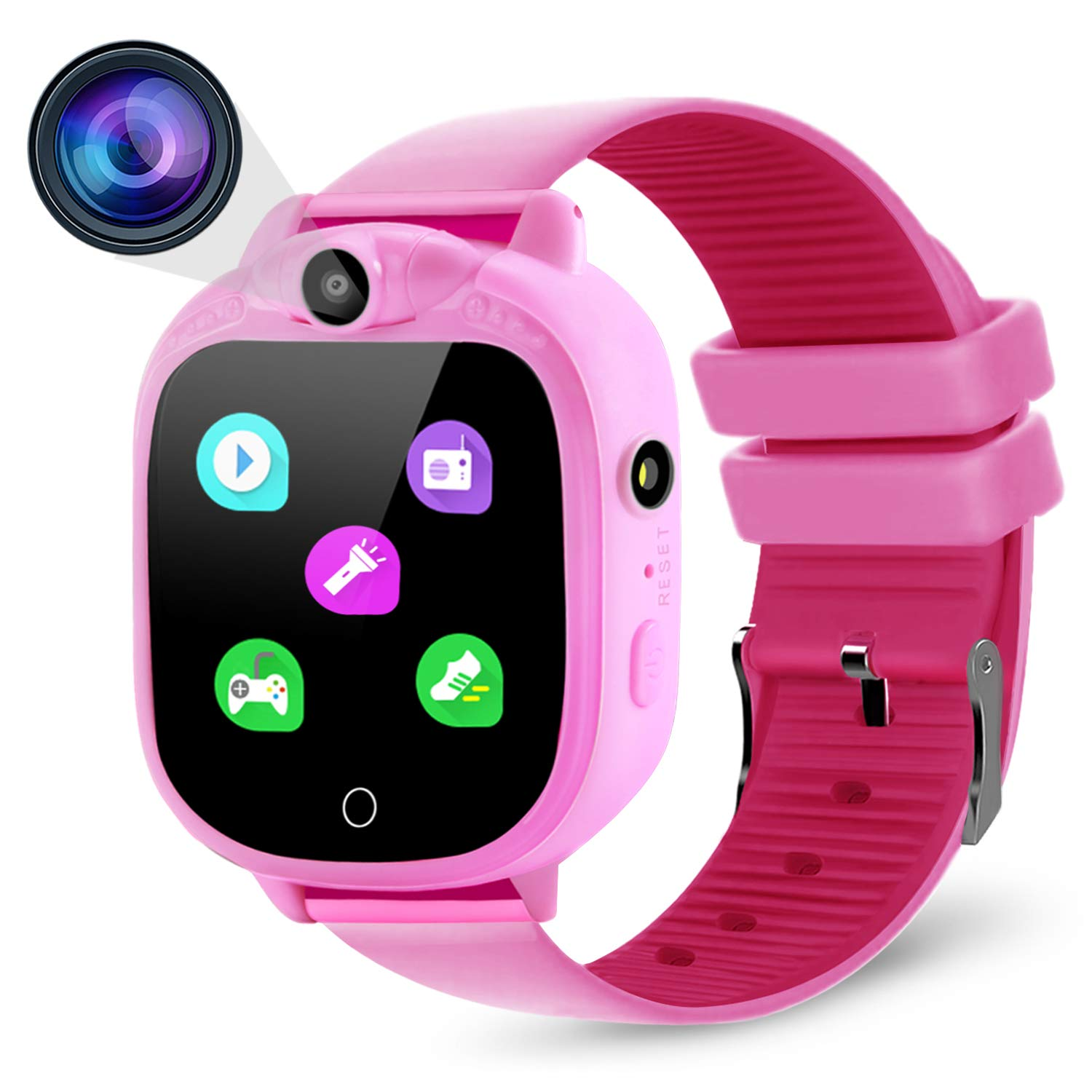 Smart Watch Digital Camera Watch with 1.5 inch Touch LCD for Boys Girls