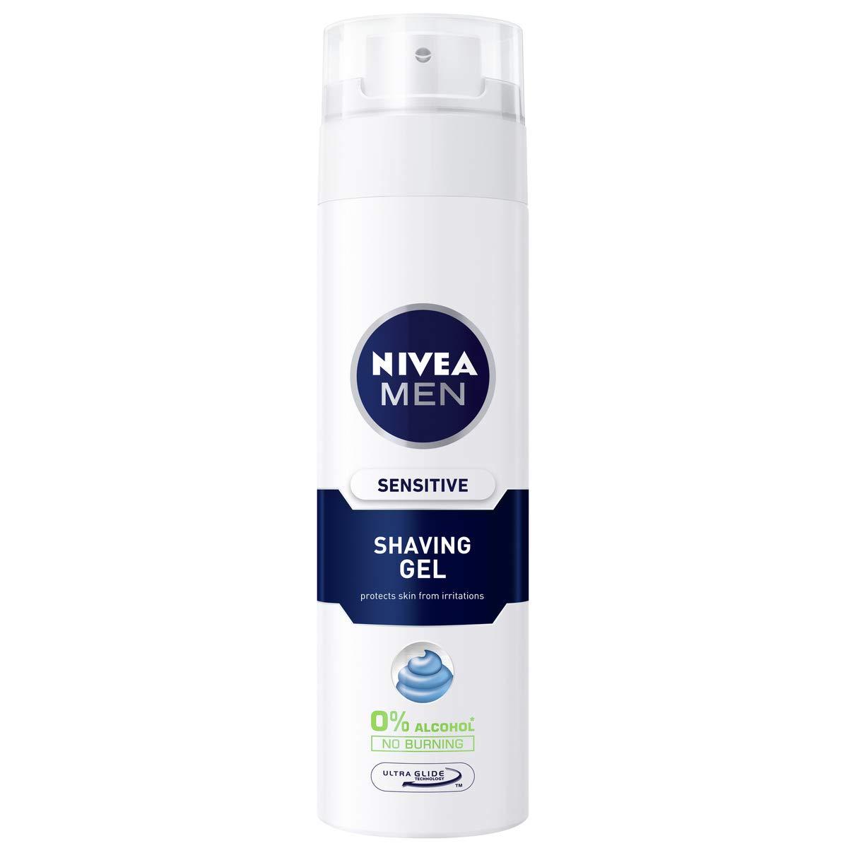 NIVEA MEN Sensitive Shaving Gel Pack of 6 (6 x 200ml)
