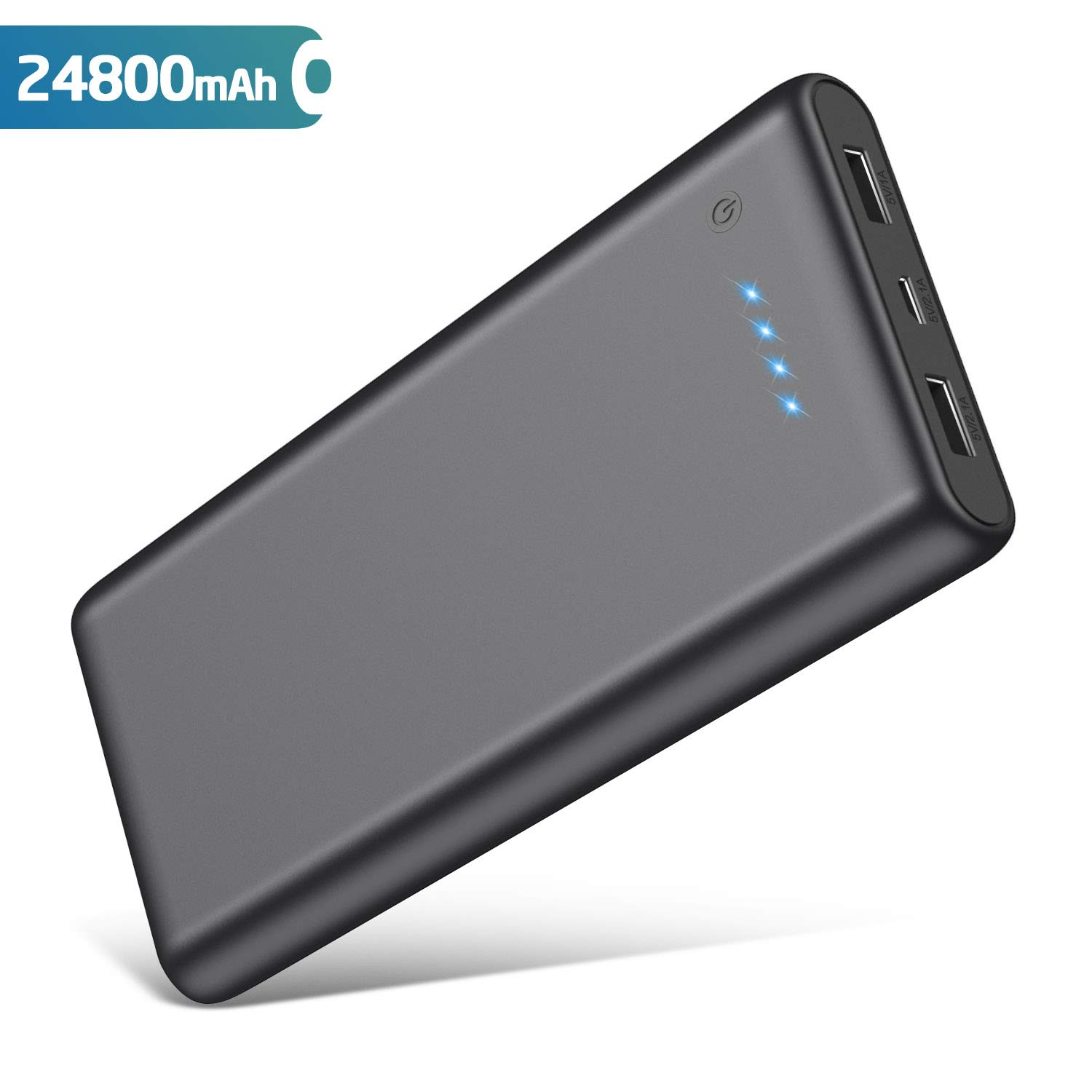 QTshine Power Bank, 24800mAh Portable Charger Large Capacity External Battery Pack Power Charger Ultra Compact Power Banks