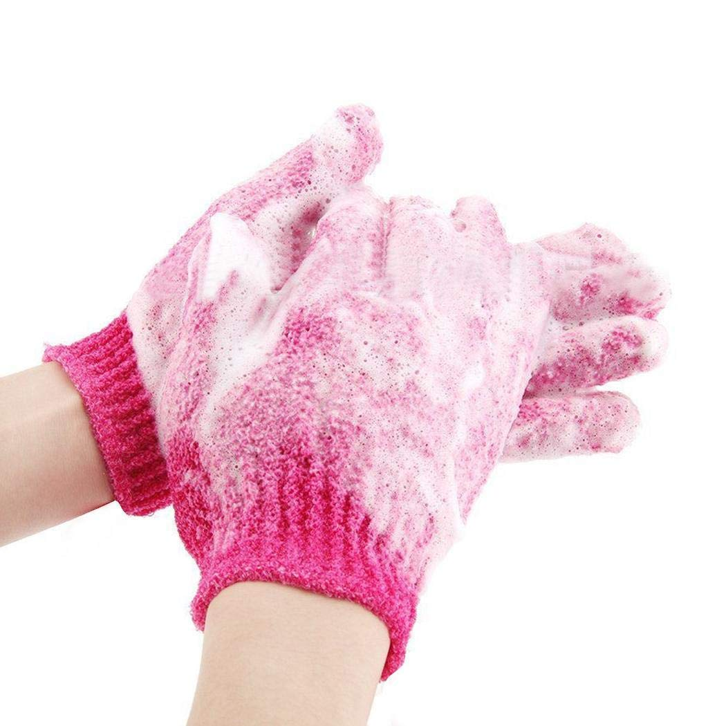 Five Fingers Bath Gloves Exfoliating Shower Mitts Body Brushes
