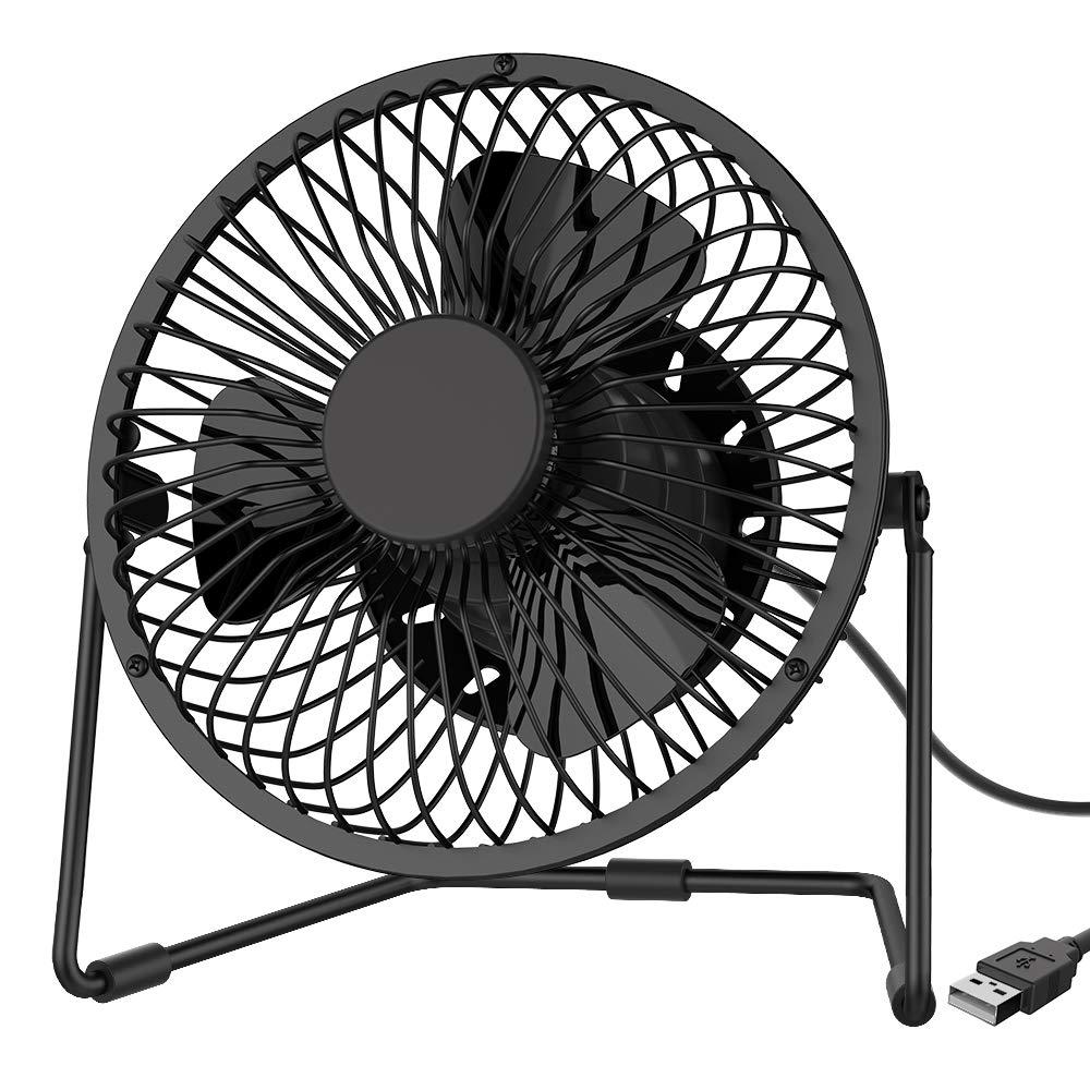 5 Inch USB Quiet Desk Fan Mini Desktop Silent Fan