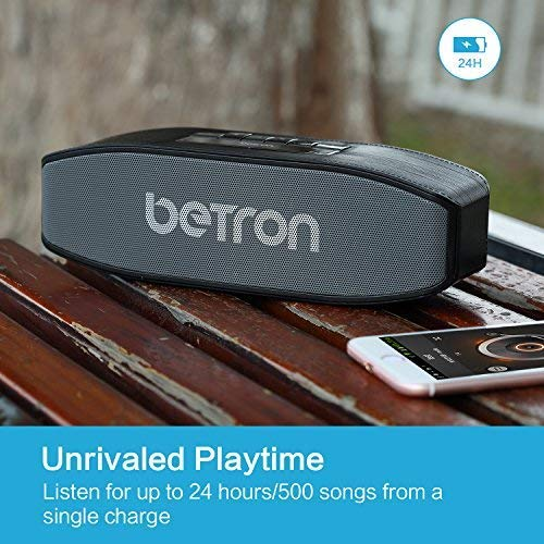 Betron E45 Bluetooth Wireless Speaker with Integrated Microphone