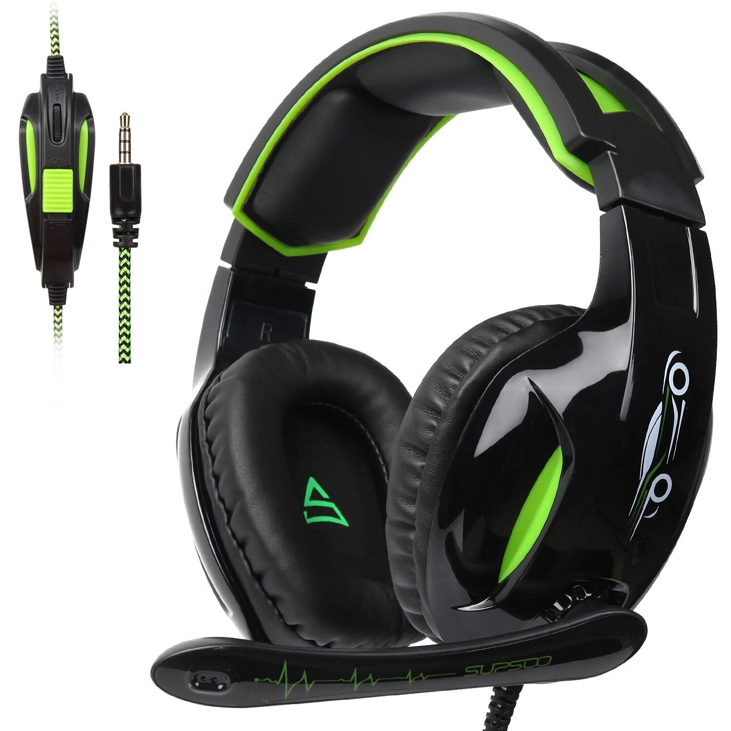 SUPSOO G813 3.5mm Stereo Gaming Headsets Over-Ear Headphones Bass Headsets