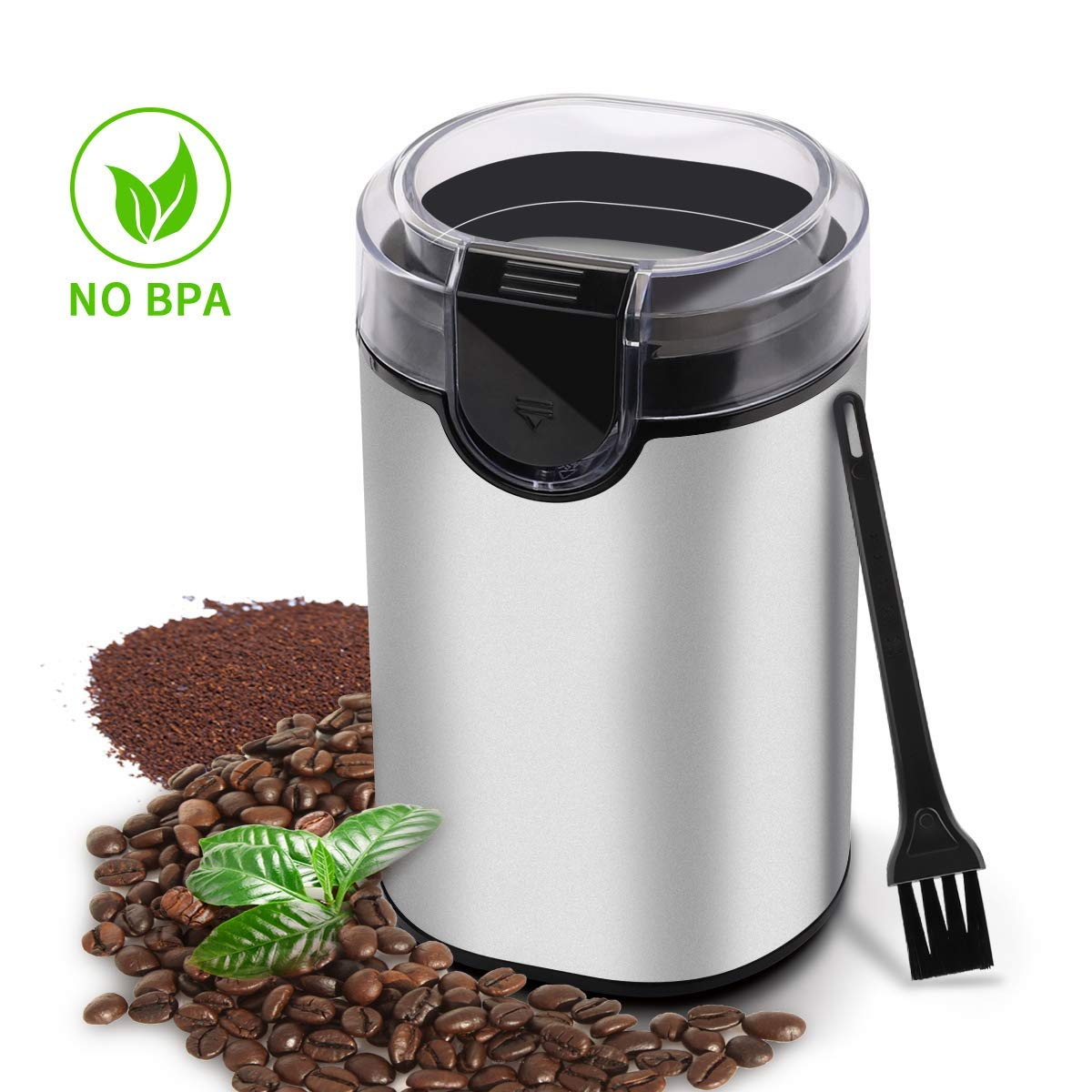 Morpilot Electric Coffee Grinder,150w Stainless Steel Blades Grinder with Coffee Bean Grinders