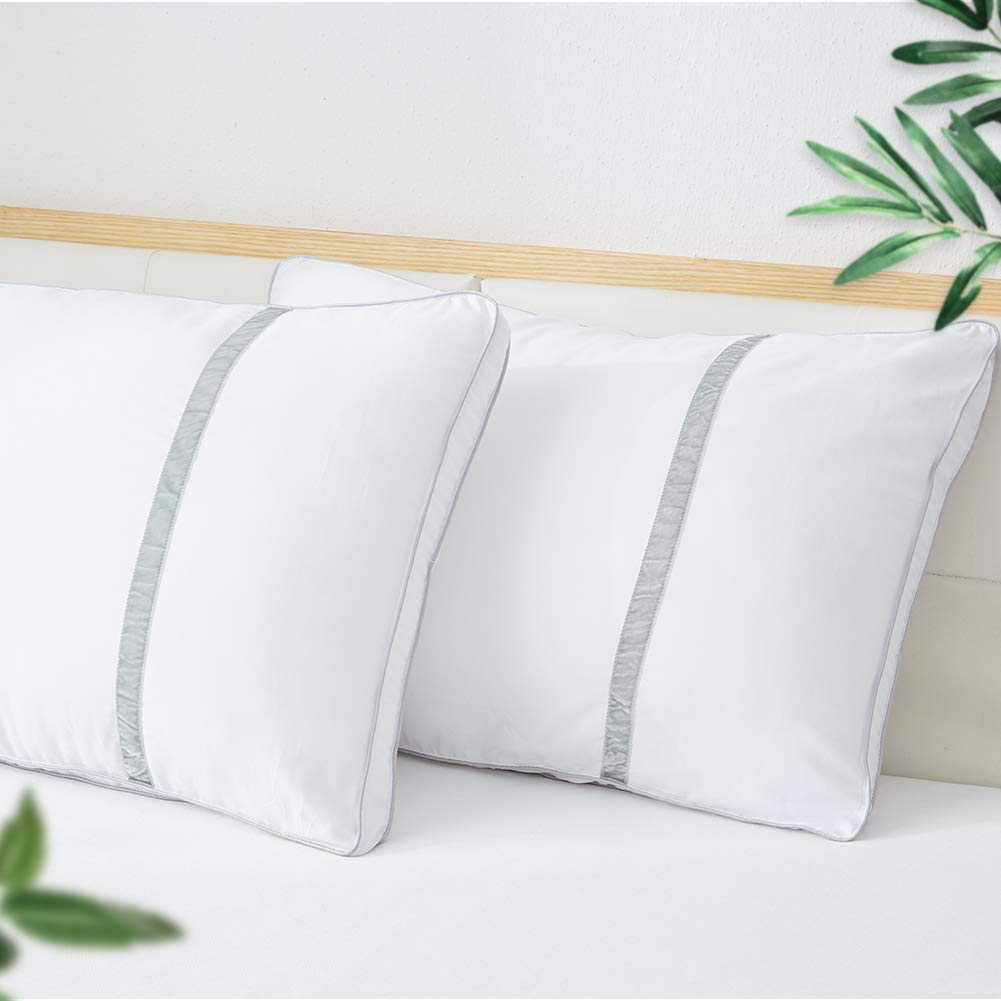 BedStory Sleeping Pillows Hotel Collection Luxury Pillow 2 Pack Goose Down Alternative Premium Quality Bed Pillows