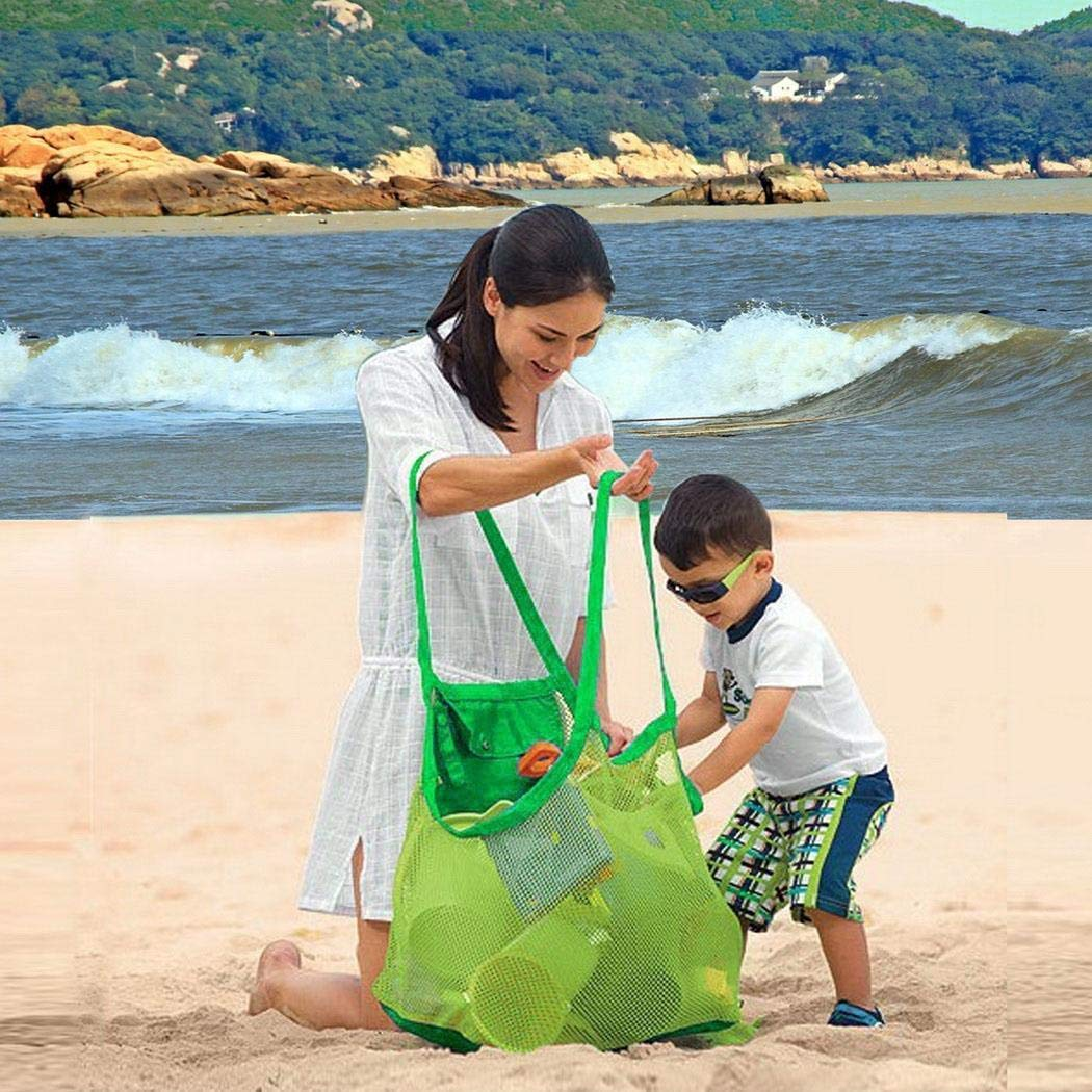 Fast Storage Bag Sundries Mesh Bag Outdoor Children Beach Toys