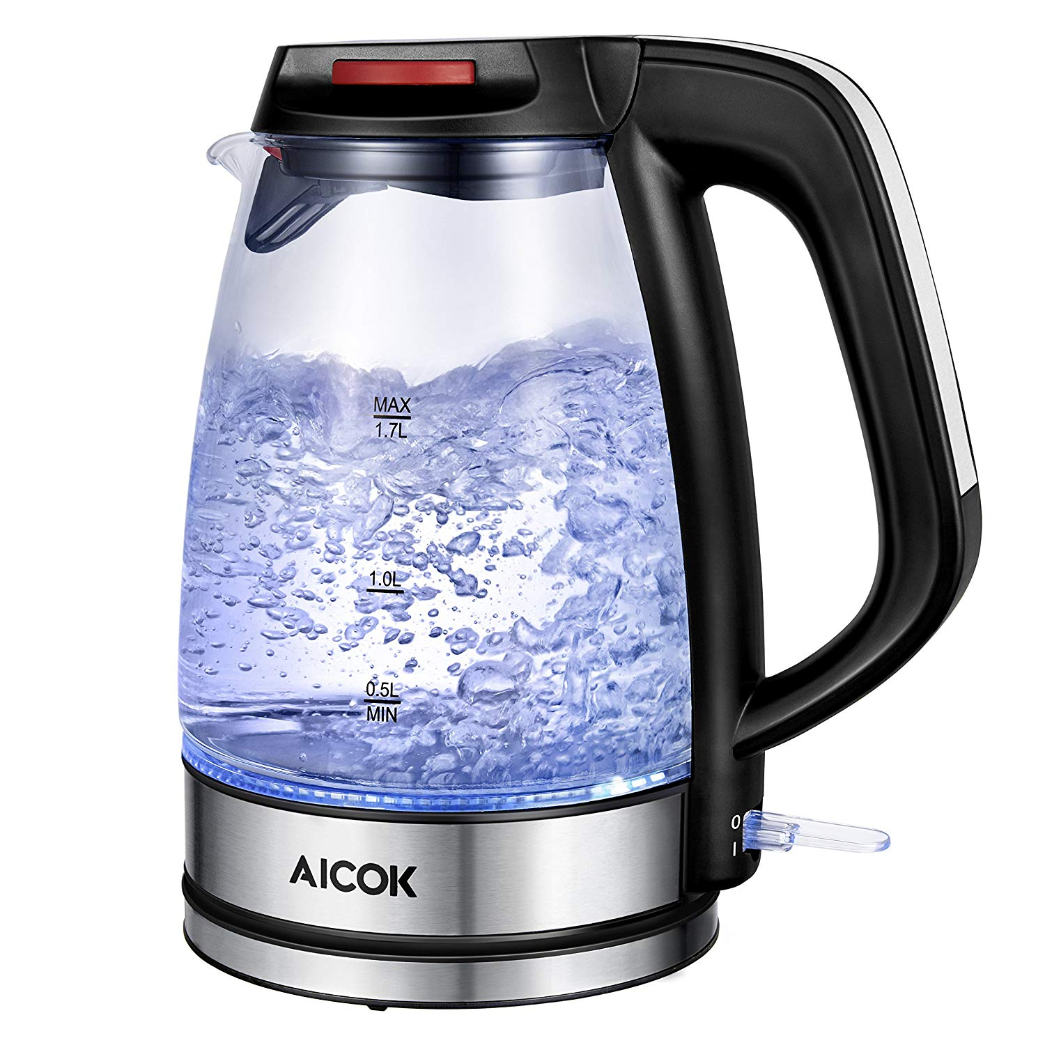 AICOK Electric Kettle Glass Kettle Electric Fast Boil,1.7L Tea Kettle