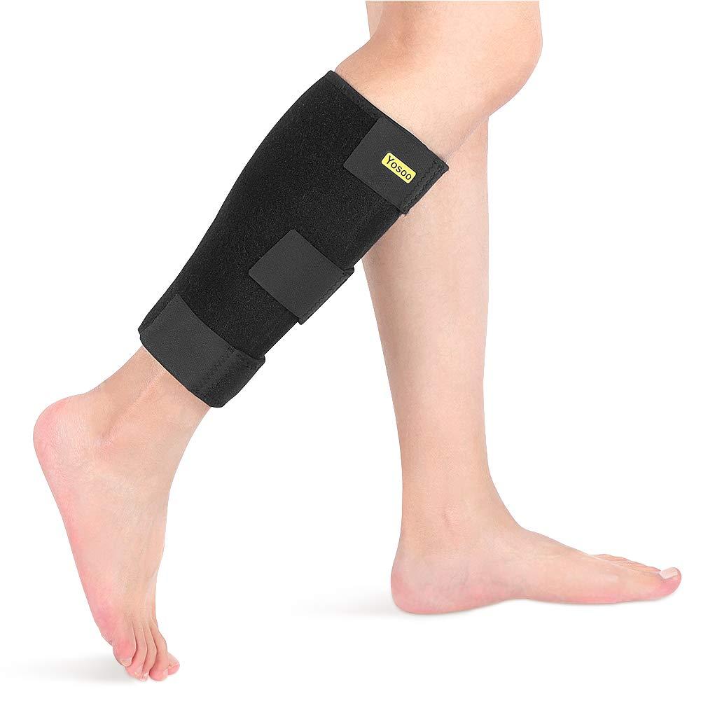 Calf Support Brace Adjustable Shin Splint Breathable Neoprene Compression Calf Sleeve