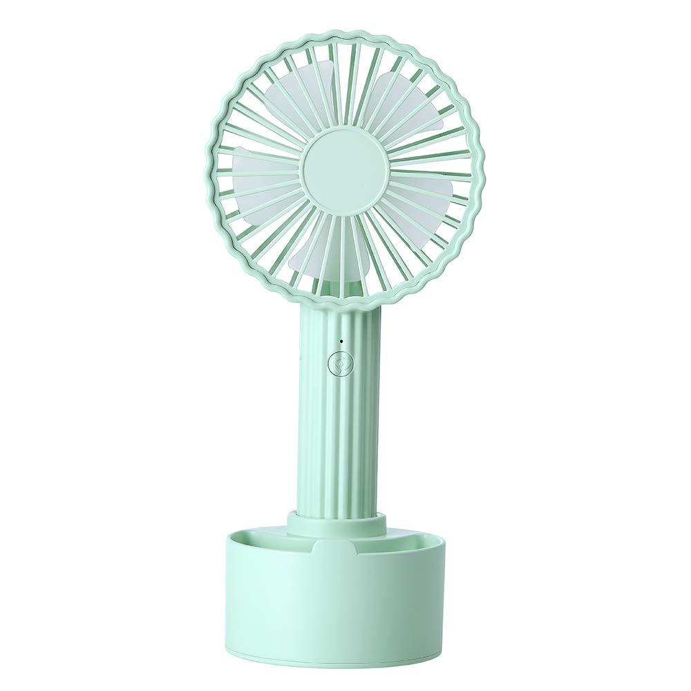 CHIHANGUOJI Portable USB Mini Fan Noiseless Table Fan Rechargeable Handled Fan