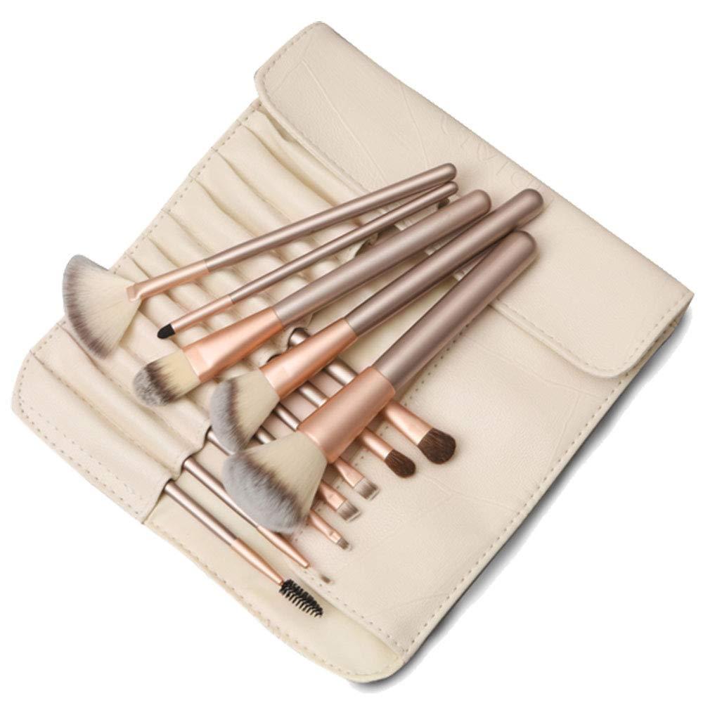 12 Pcs Makeup Brush Set with Portable Case Beauty Brushes Kit