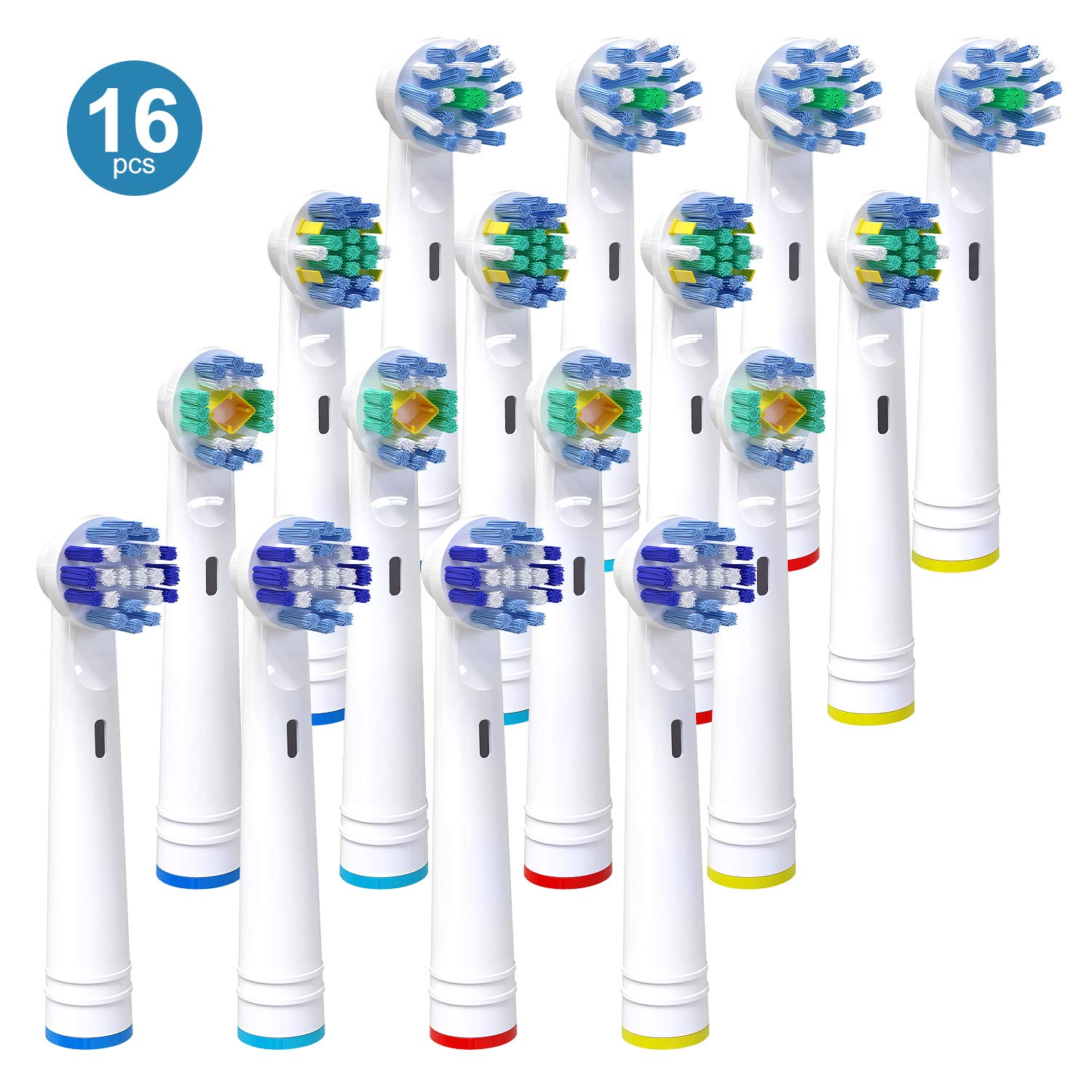 Replacement Toothbrush Heads for Oral B, iTrunk 16 Pack Electric Toothbrush Heads Compatible
