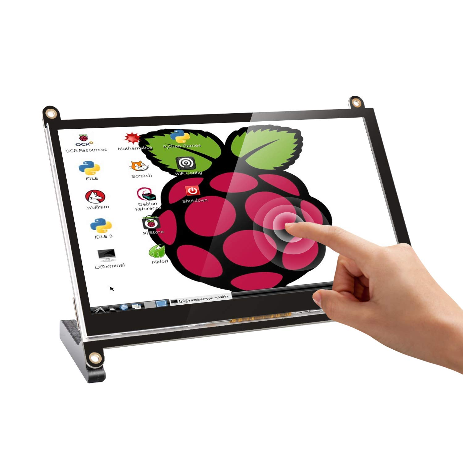 7 Inch Touch Screen Monitor, Portable IPS Display 1024 * 600 16:9 USB HDMI Monitor