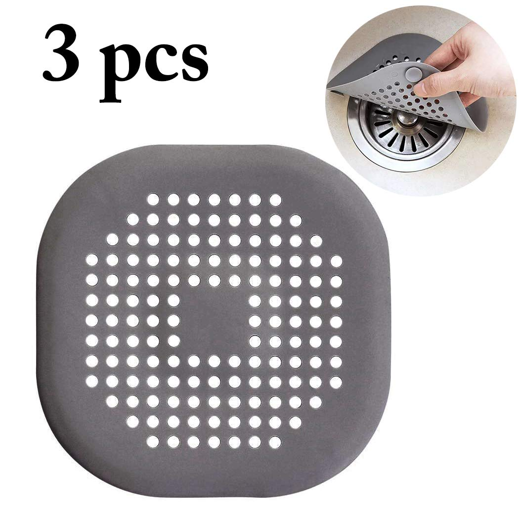 3 Pcs Silicone Kitchen Sink Strainer Drain Filter Waster Stopper (5.51in)