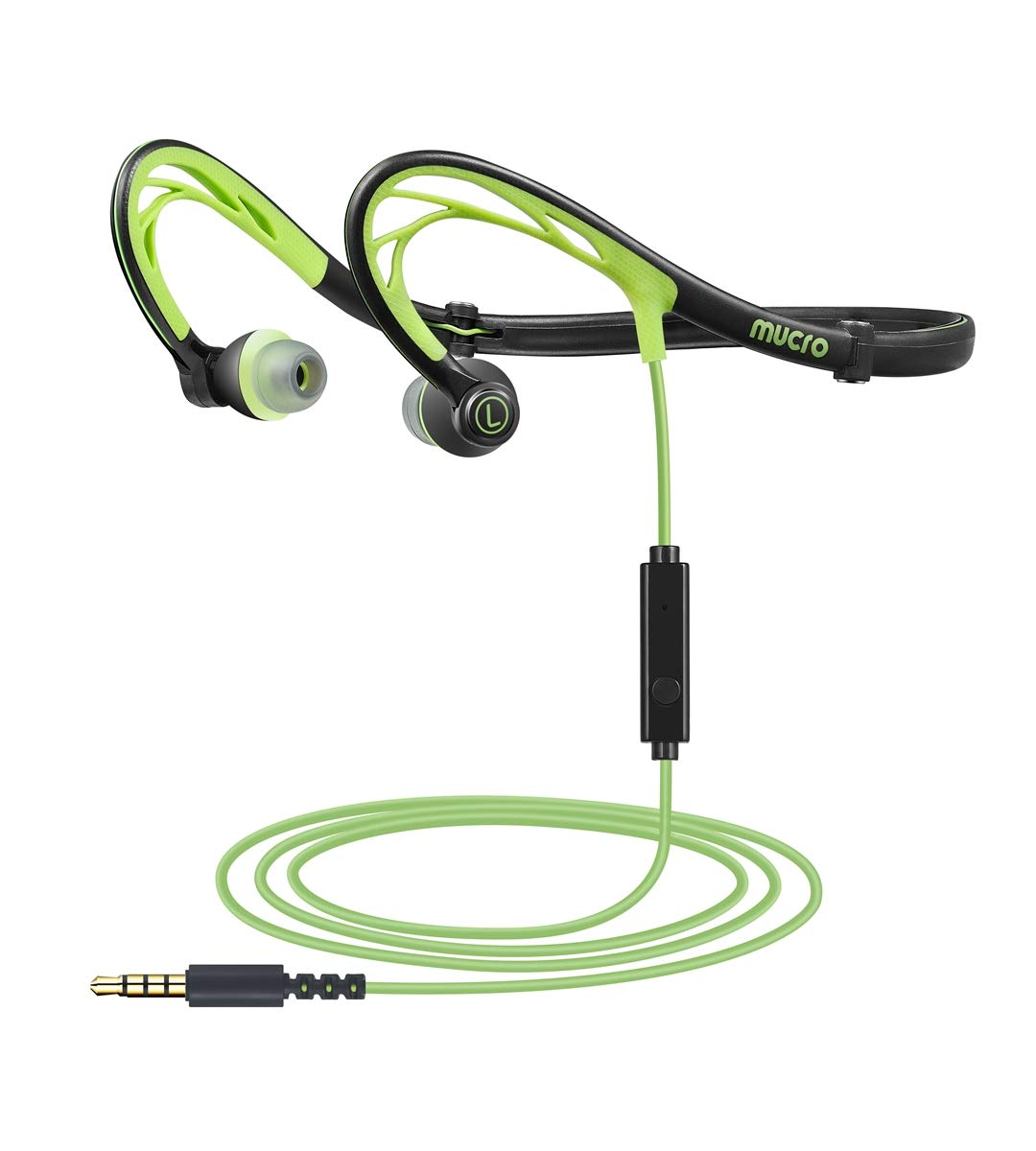 MUCRO Foldable Wired Running Sports Headphones