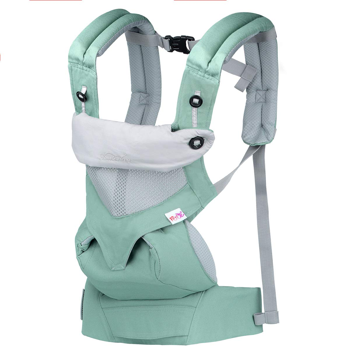 Upgrow Baby Carrier Slings Safety Baby Front Back Carrier Infant Backpack Wrap Harness with Hood