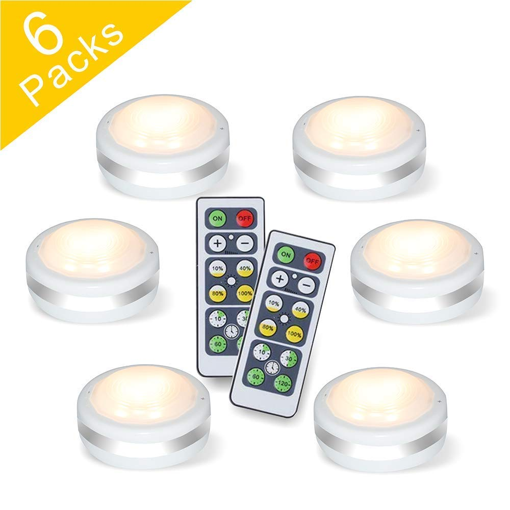 Starxing Wireless Led Puck Lights Battery Operated With Remote Control