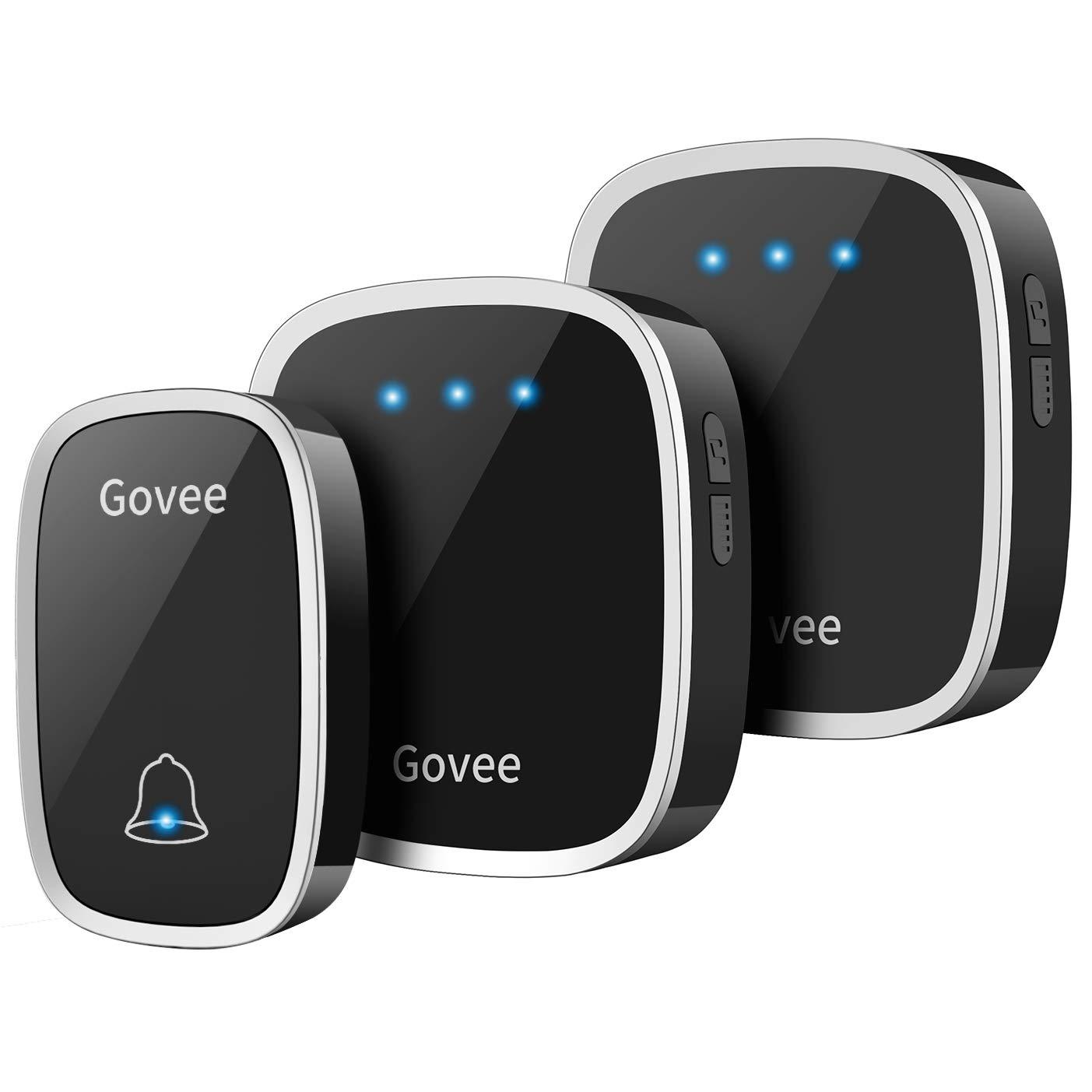 Wireless Doorbell, Govee Waterproof Door Bell Chime Kit