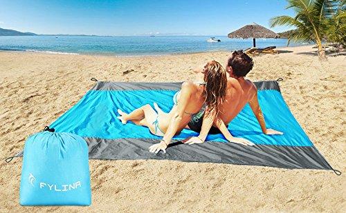 FYLINA Beach Blanket Picnic Blanket Oversized 210cm x 270cm