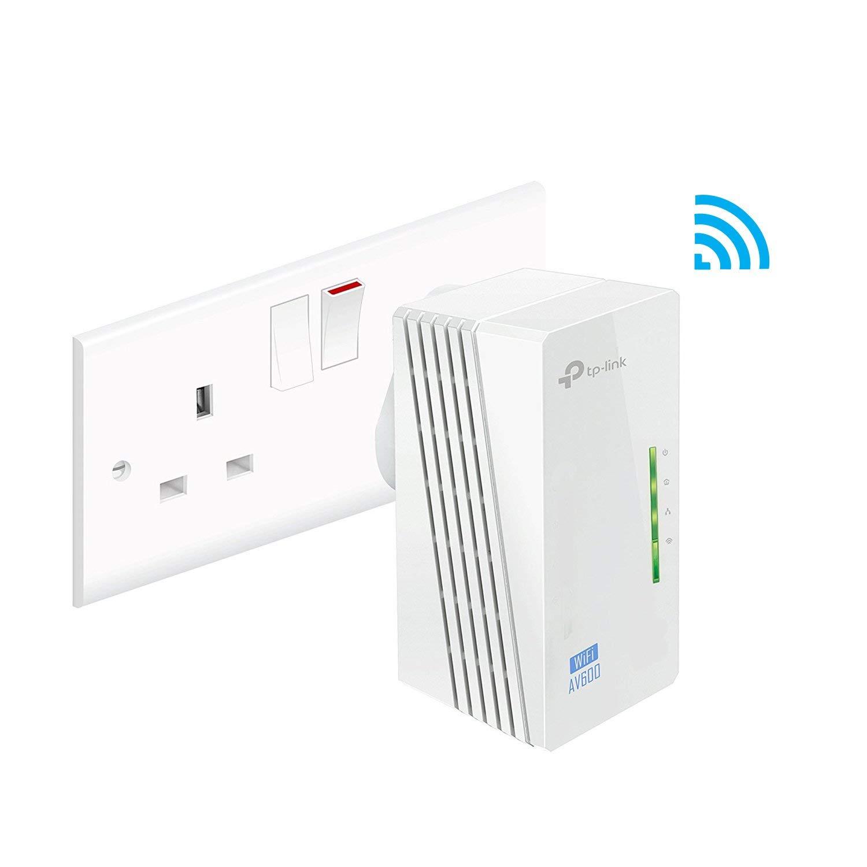 TP-Link TL-WPA4220 2-Port Add-On Powerline Adapter, Range Extender