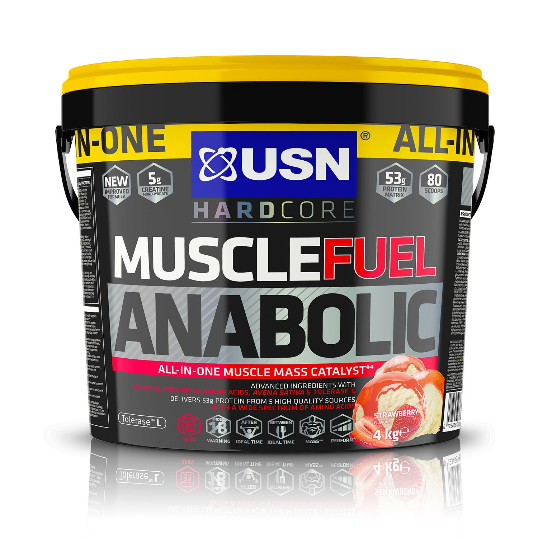 Muscle Gain Shake Powder, Strawberry, 4 kg