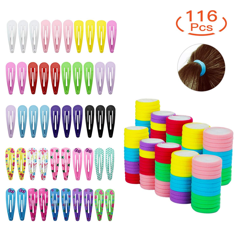 50pcs Hair Clips with 66pcs Hair Bands Ties Kit