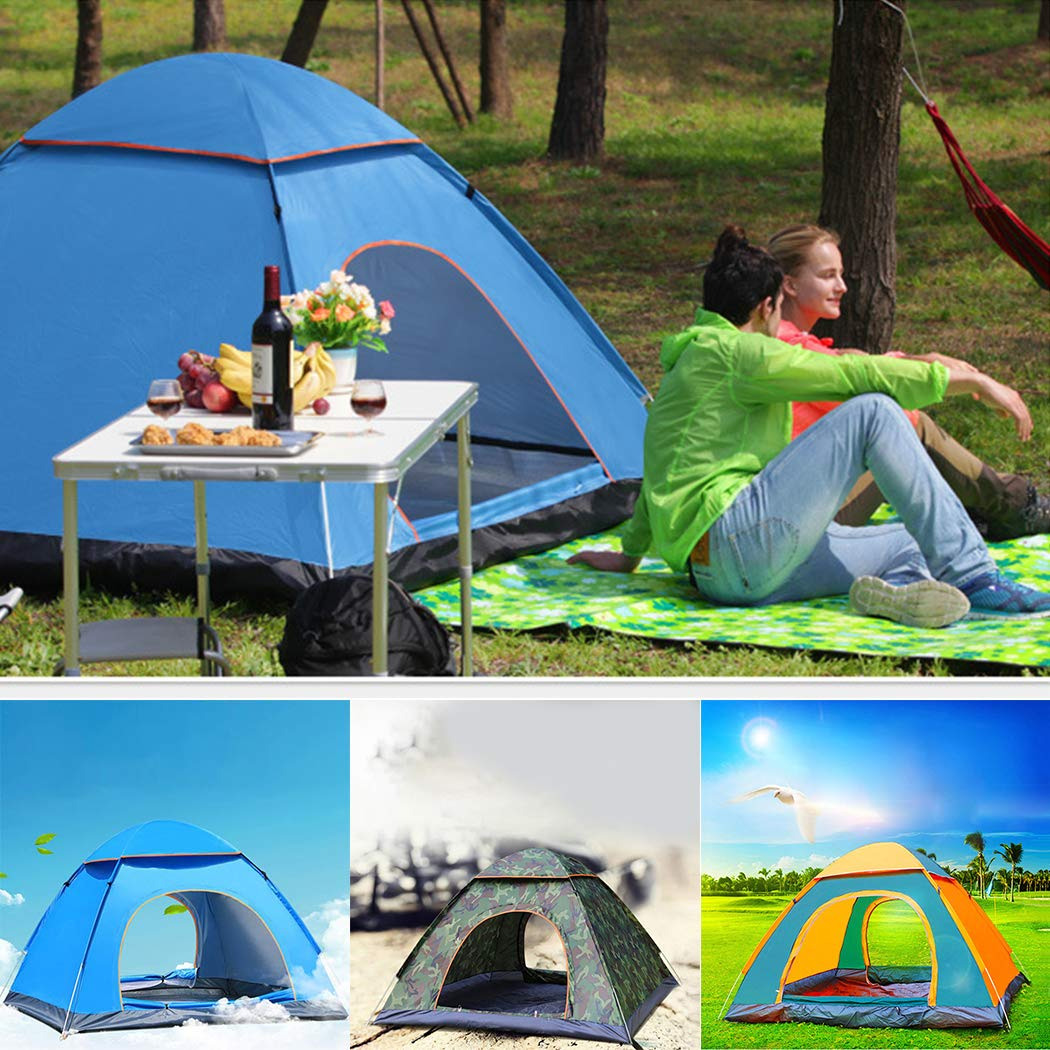 ULTREY Outdoor Pop up Camping Tent Dome Tent Lightweight Pop Up Throwing Tent 2-3 Person Tent Camping Tent