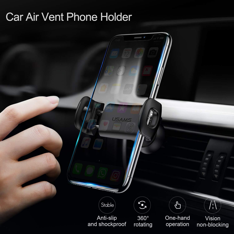 Car Phone Holder, Usams Car Phone Mount Air Vent Phone Holder