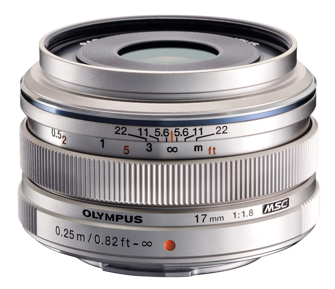 Olympus M.ZUIKO DIGITAL 17mm 1:1.8 Lens – Silver