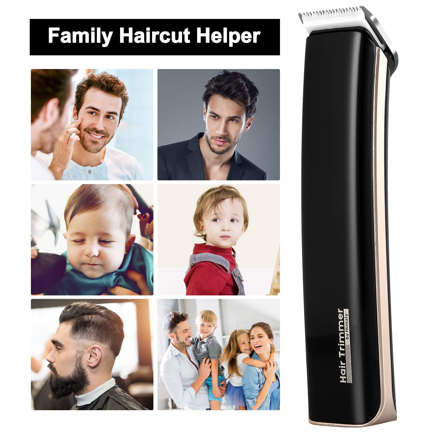 Himaly Rechargeable Cordless Electric Hair Clippers Cutter