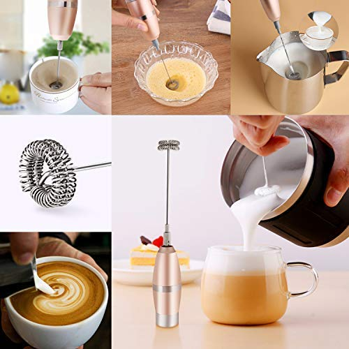 Milk Frother, Mixoo 19000RPM Powerful Electric Handheld Mini Form Maker
