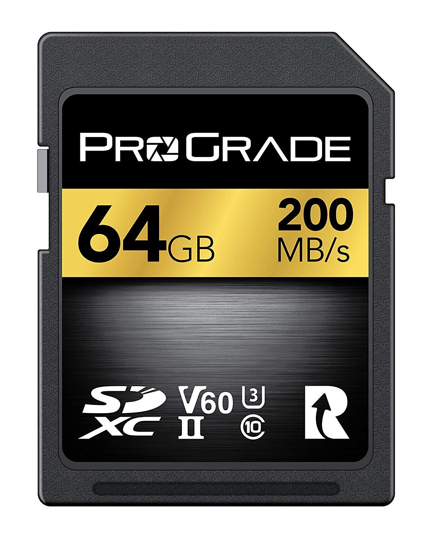 ProGrade Digital Incorporated SDXC UHS-II V60 Memory Card 64GB