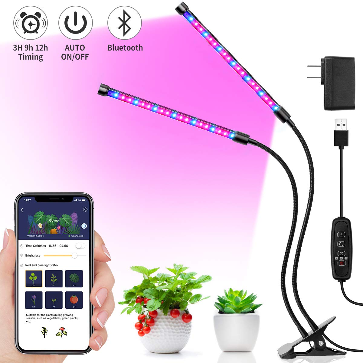 Grow Light, MINGER LED Plant Light for Indoor Plants