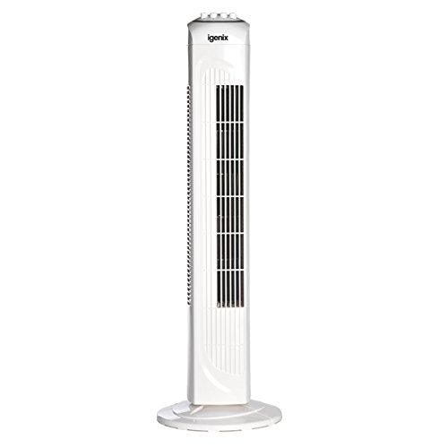 Igenix Oscillating Tower Fan, 30 Inch, 3 Speed Settings,