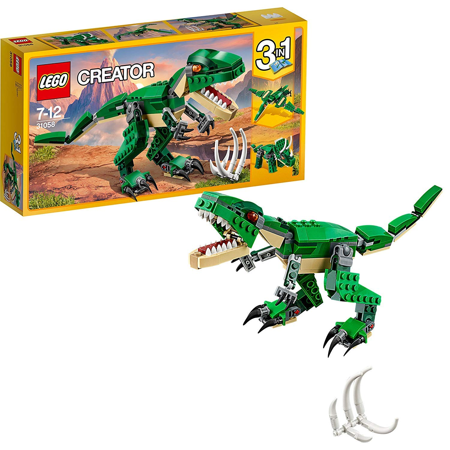 LEGO 31058 Creator Mighty Dinosaurs Toy,  Triceratops and Pterodactyl Dinosaur Figures