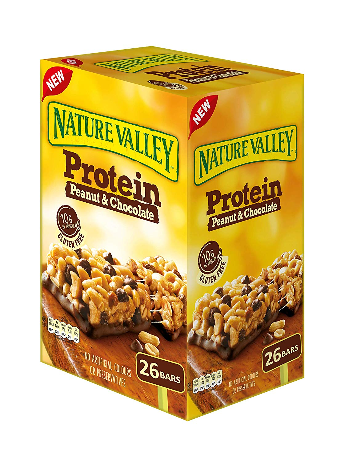 Protein Peanut & Chocolate Gluten Free Cereal Bars (Pack of 26 Bars)