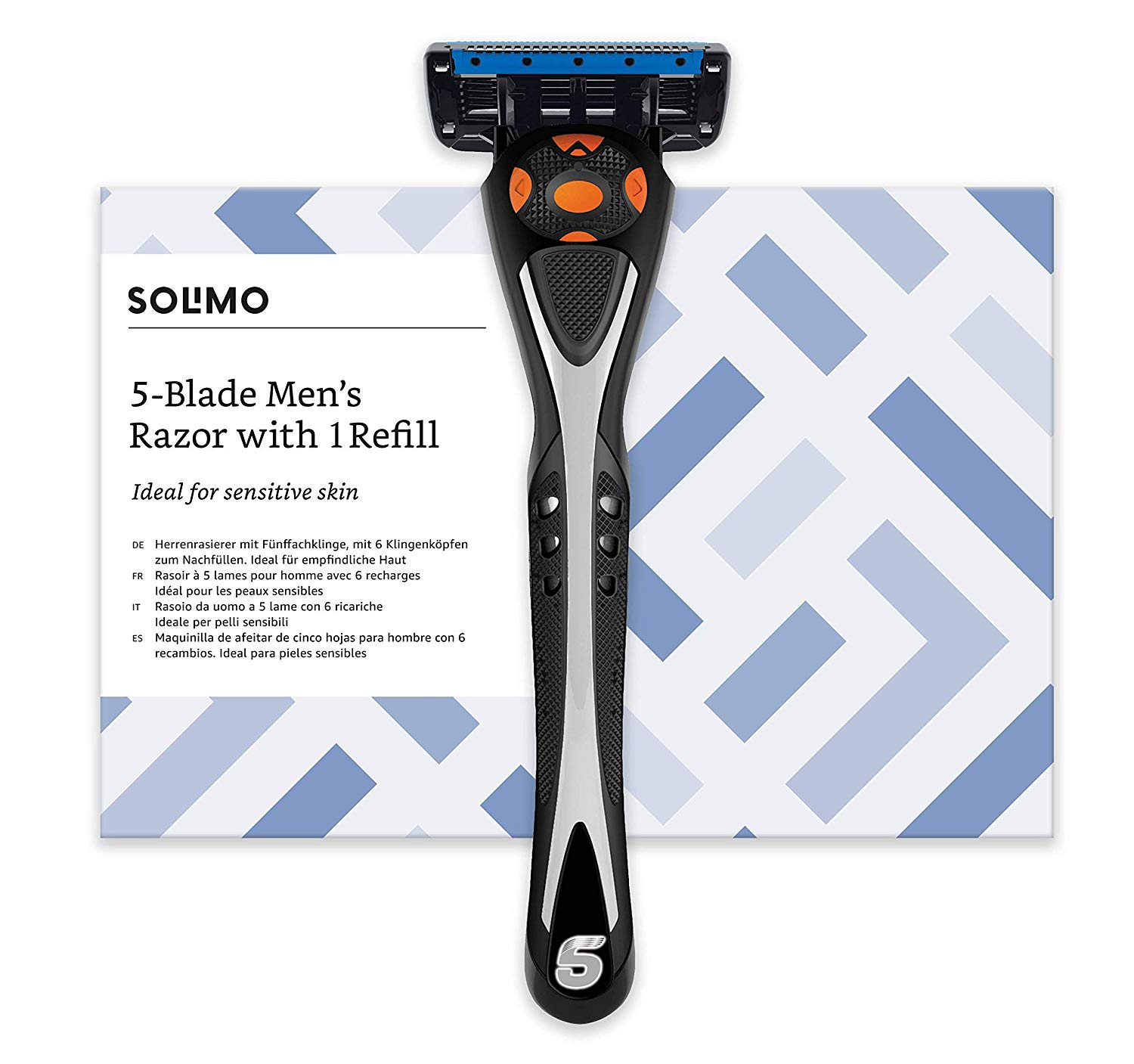 Solimo Male 5 blade men's razor with 1 refill